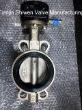 Vanne papillon de disque de l'acier inoxydable CF8 avec le conducteur de vitesse