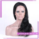 Parrucca piena indiana della parte anteriore del merletto dei capelli umani della donna della linea sottile naturale