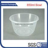 Bacia plástica descartável para o macarronete e a sopa