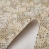 La borsa di cuoio del pitone calza il materiale