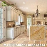 M729 Golden Emperador de mármore para decoração de assoalho e parede de luxo