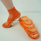 Soem-kundenspezifische alleinige Gummi-nicht Beleg-Trampoline-Socken