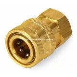 Rapides droits en laiton usinés par précision de qualité connectent le couplage hydraulique de pipe