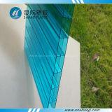 Comitato di plastica della cavità del policarbonato della Triplice-Parete con il rivestimento UV
