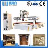 Подгонянная дверь надежного изготовления деревянная высекая подвергать механической обработке CNC Ww1325b EPS
