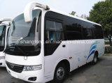 Omnibus barato chino del pasajero con 26 asientos en la promoción de ventas