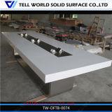 Présidence blanche en pierre extérieure solide acrylique de marbre artificielle de Tableau de conférence de Corian de modèle moderne