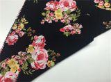 Tissu de rayonne estampé floral pour la robe/jupe de filles