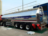 30t Aliminum Tanker Trailer for Cooking Oil Transport