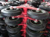 Rouleau de chariot à escalier en plastique à pneus en mousse PU avec cadre en acier