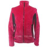 Mulheres luva longa Faux Fur Fake Fur Jacket