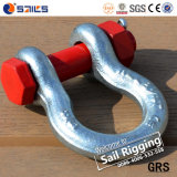 저희 안전핀을%s 가진 Type G2130 Drop Forged Lifting Bow Shackle