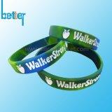 Wristband del silicone del silicone riempito colore su ordinazione
