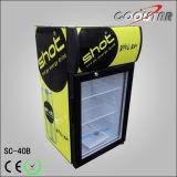 Escaparate de enfriamiento de la visualización del nuevo vidrio con el rectángulo ligero (SC40B)