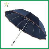 """Рекламировать зонтик гольфа высокого качества спорта 27 """" дешевых самых лучших изготовлений большой Windproof для выдвиженческого с валом металла"""