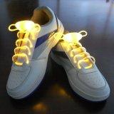 Планки ручки зарева проблескового света ботинок шнурков 120cm способа СИД шнурки поднимающей вверх плоские