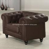 Sofa en cuir classique moderne de Chesterfield