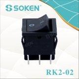 Interruptor de eje de balancín de Soken Dpdt