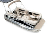 電気船外モーターが付いている5.2mアルミニウムポンツーンの川船