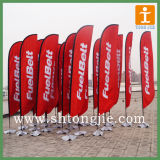 Flying al aire libre Feather Flag con Ground Spike Base