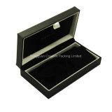 Rectángulo de empaquetado de la pulsera de lujo de papel de imitación de cuero