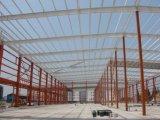 Magazzino della struttura d'acciaio dell'ampia luce con la parete delle lane di vetro
