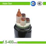 3 câble d'alimentation isolé de tension de conducteur de cuivre de faisceau bas par XLPE