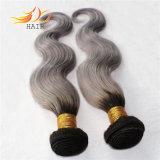 100%のモンゴル人のRemyの人間の毛髪2の調子の薄い色の毛の拡張