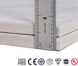 Tarjeta de la pared de la fibra de Cellulos del precio de la tarjeta del techo del cemento de la fibra
