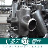 Tes/de las instalaciones de tuberías te soldada tope del tubo