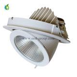 暖かい白人の純粋な白人の涼しい白人カラー臨時雇用者が付いている調節可能な50W Gimble LED Downlight