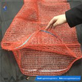 Sacos vermelhos de Raschel para empacotar batatas de 25kg 30kg