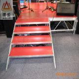 Дешевый подвижной алюминиевый гидровлический этап индикации танцульки черни 6082-T6 портативный