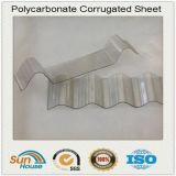 Lamiera sottile ondulata del policarbonato di plastica bianco