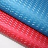 Couro decorativo impresso Textured do saco do plutônio do Synthetic couro de cristal Shining