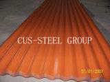 Hoja acanalada galvanizada del material para techos Plates/PPGI del color