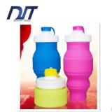 Projetar a garrafa de água de dobramento portátil do esporte do silicone 520ml
