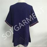 Рубашка вышивки рейона способа повелительниц длинняя с Tassel (DR-113)