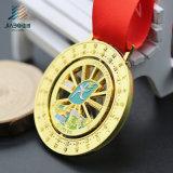 La medaglia su ordinazione dello smalto del metallo in lega di zinco di rotazione tagliata oro della pressofusione (JIABO-JP1670)