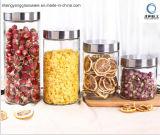 Cilindro Almacenamiento de Alimentos Tarro de Cristal con Tapa de Metal