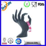 Braccialetto ispiratore impresso Wristband nero del silicone