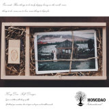 Hongdao는 결혼 선물 _E를 위한 나무로 되는 사진 상자를 주문을 받아서 만들었다