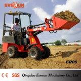 Everun Er06 Hydrostatisch mini Radlader/Hoflader para Mit Ce/Euro 3 de la granja