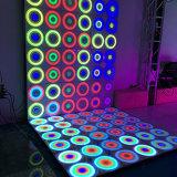 Efecto dinámico de la manera del panel de pared de la patente para los acontecimientos LED Dance Floor del banquete de boda