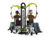 Equipo al aire libre constructivo inhabilitado diversión de la aptitud de Handicaped del parque de la gimnasia
