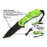 """4.75は""""塗られた緑のCamoの屋外のポケット・ナイフを閉じた: 4pn4-50gnca"""