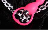 Silicones adultes de vente fous de produit vibrant le jouet de sodomie de 3 vitesses
