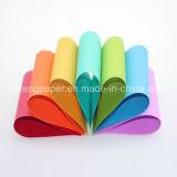 Papier de couleur de papier de texture de pâte de bois de qualité