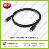 Type câble d'USB 3.1 de C
