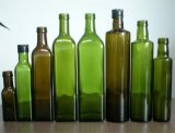 Frascos de vidro de frasco de petróleo verde-oliva de vidro/petróleo verde-oliva